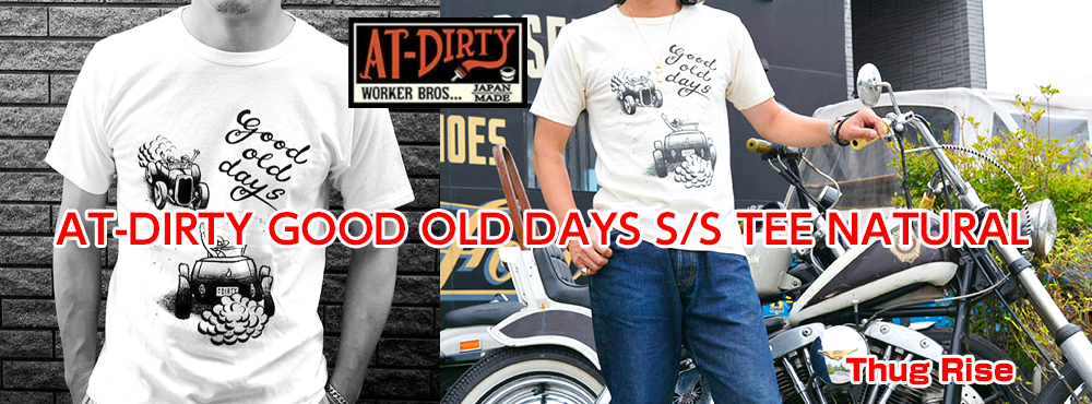 AT-DIRTY GOOD OLD DAYS S/S TEE NATURAL