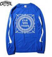 CUTRATE  CAN YOU PARTY L/S T-SHIRT BLUE(カットレート・キャンユーパーティーロングスリーブTシャツ・ブルー)