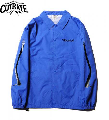 CUTRATE NYLON COACH JACKET BLUE