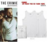 CRIMIE 2P-PACK THE CR TANK TOPS  WHITE(クラミー・2枚セットTHE CRタンクトップ・ホワイト)