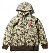 PAWN EAGLE ZIP HOODIE 99301 GRAY /CAMO(パウン・イーグルジップアップパーカー・グレー/カモ)
