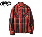 CUTRATE L/S CHECK SHIRT RED(カットレイト・ロングスリーブチェックシャツ・レッド)