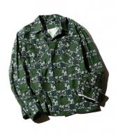 【SALE 30%OFF】CUTRATE L/S PRINT CHECK SHIRT・GREEN(カットレイト・プリントチェックシャツ・グリーン)