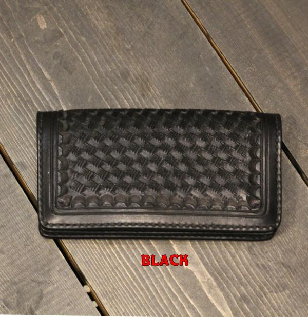 "【SALE 20%OFF】ATELIER CHERRY  Tracker Wallet""Basket""BLACK/RED(アトリエチェリー・トラッカーウォレット・バスケット・ブラック/レッド)"