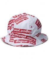 FUCT SSDD OUR PLEASURE HAT 48906 WHITE(ファクト・総柄メトロハット・ホワイト)