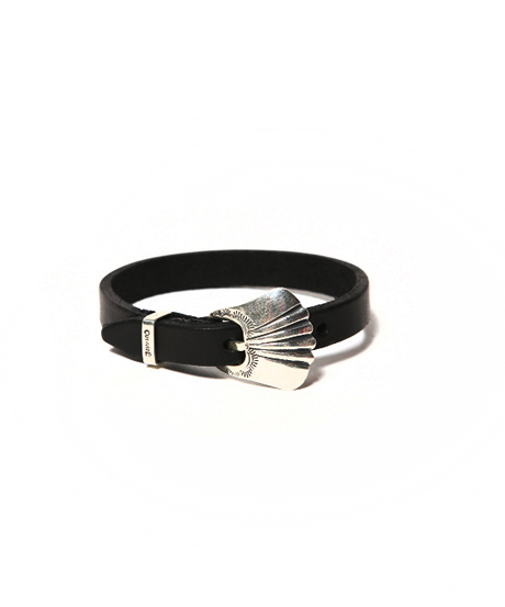 CUTRATE LEATHER BRACELET BLACK BY LARRY SMITH MADE(カットレート・レザーバングル・ブラック・ラリースミス)