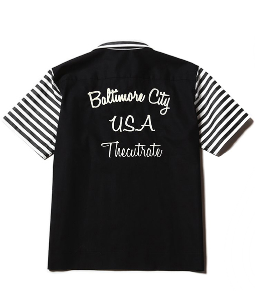 CUTRATE BOWLING SHIRT BLACK(カットレイト・半袖ボーリングシャツ・ブラック)
