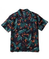 CUTRATE S/S ALOHA SHIRT NAVY(カットレイト・半袖アロハシャツ・ネイビー)