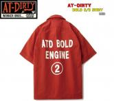 AT-DIRTY BOLD S/S SHIRT  RED(アットダーティー・ボルド半袖シャツ・レッド)