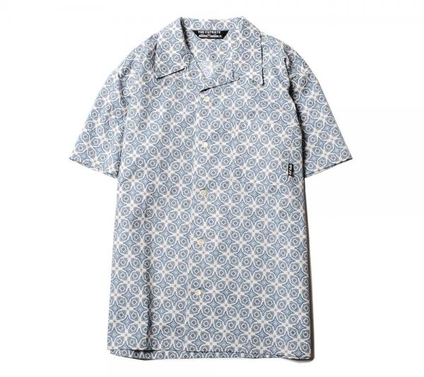【SALE 20%OFF】CUTRATE ALLOVER PATTERN S/S SHIRT WHITE/BLACK(カットレイト・オールオーバーパターン半袖シャツ・ホワイト/ブラック)