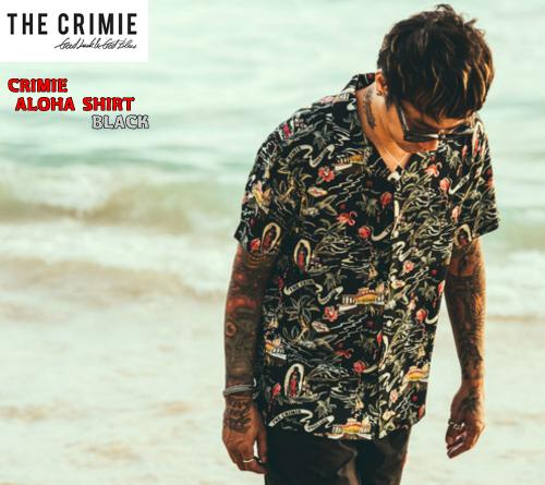 CRIMIE ALOHA SHIRT BLACK(クライミー・アロハ半袖シャツ・ブラック)