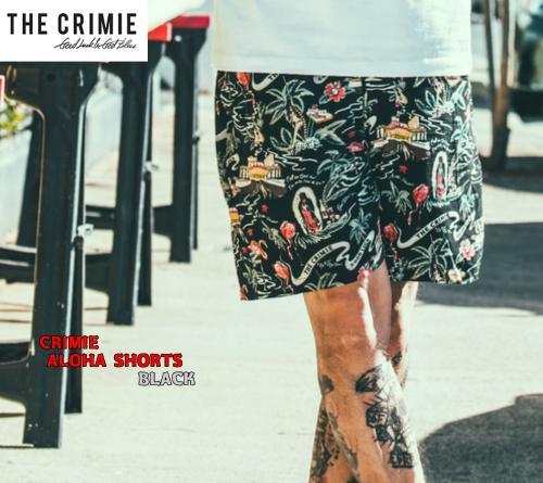 CRIMIE ALOHA SHORTS BLACK(クライミー・アロハショーツ・ブラック)