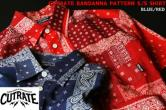 【SALE 20%OFF】CUTRATE BANDANNA PATTERN S/S SHIRT BLUE/RED(カットレイト・バンダナパターン半袖シャツ・ブルー/レッド)