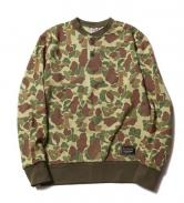CUTRATE CAMO HENLEY NECK SWEAT HUNTER(カットレー・カモ ヘンリー スェット・ハンター)