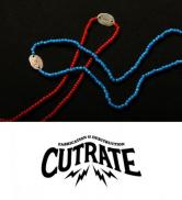 CUTRATE BEADS NECKLACE BLUE,RED(カットレート・ビーズネックレス・ラリースミス・ブルー/レッド)