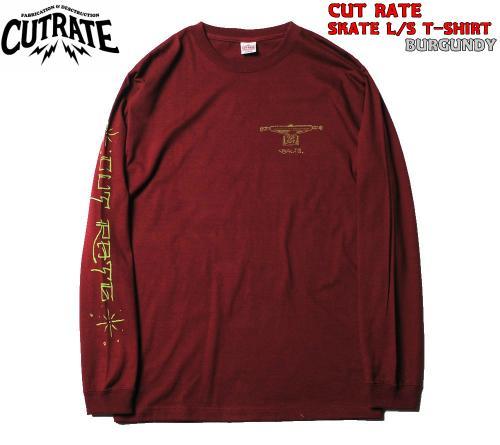 CUTRATE SKATE L/S T-SHIRT BURGUNDY