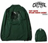 CUTRATE NYLON COACH JACKET GREEN(カットレート・ナイロンコーチジャケット・グリーン)