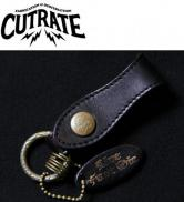 CUTRATE LEATHER KEY RING BLACK (カットレート・レザーキーリング・ブラック)