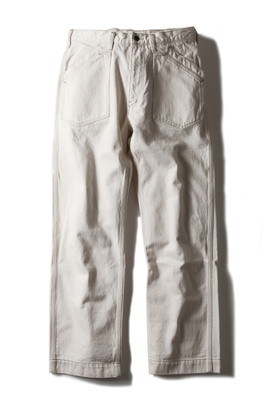 AT-DIRTY WORKERS PANTS  IVORY(アットダーティク・ワーカーズパンツ・アイボリー)