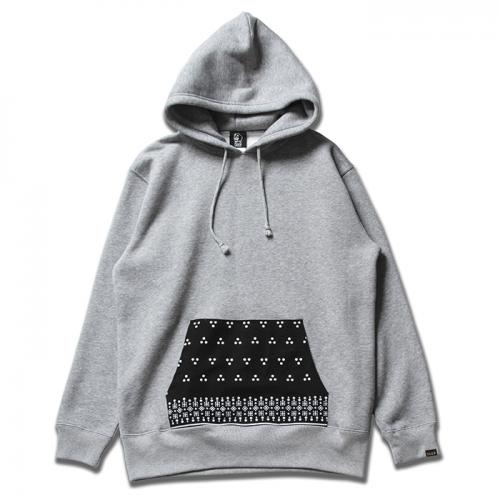PAWN GRIFFIN HOODED 96309 GRAY/BLACK(パウン・グリフィンパーカー・グレー/ブラック)