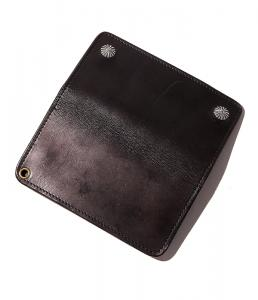CUTRATE LEATHER CONCHO WALLET/BLACK(カットレート・レザーコンチョウォレット/ブラック)