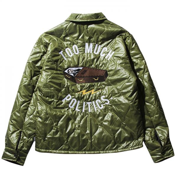 【SALE 20%OFF】PAWN COFFIN QUILTING JACKET OLIVE(パウン・コフィンキルティングジャケット・オリーブ)