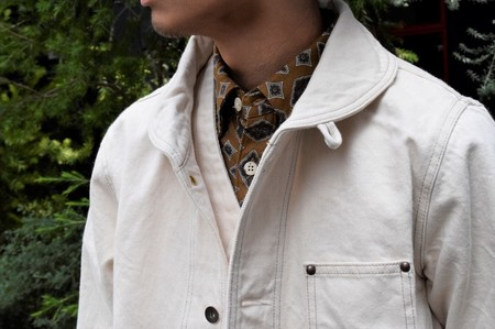 AT-DIRTYWORKERS JACKET  IVORY(アットダーティク・ワーカーズジャケット・アイボリー)