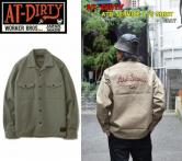 AT-DIRTY ATD SERVICE L/S SHIRT GRAY(アットダーティー・ATDサービスロングスリーブシャツ・グレー)