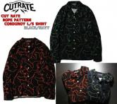CUTRATE ROPE PATTERN CORDUROY L/S SHIRT NAVY/BLACK(カットレイト・ロープパターンコーデュロイロングスリーブシャツ・ネイビー/ブラック)