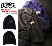 【SALE 30%OFF】 CUTRATE A-2 DECK JACKET ・NAVY/BLACK(カットレイト・A-2デッキジャケット・ネイビー/ブラック)
