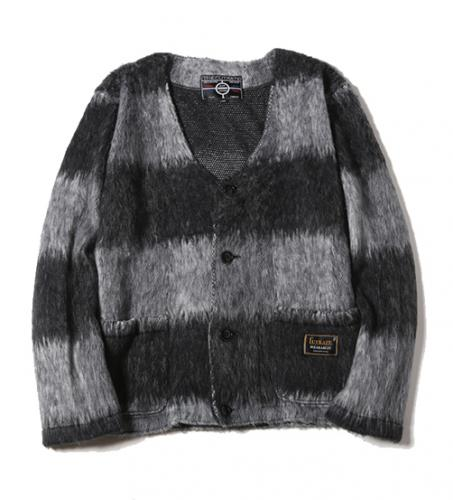 CUTRATE SHAGGY CARDIGAN BLACK