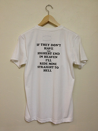 MESSAGE S/S T-SHIRT WHITE
