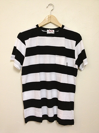 TON-UP S/S T-SHIRT BK/WH