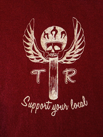 ThugRise Support your local T  BURGUNDY