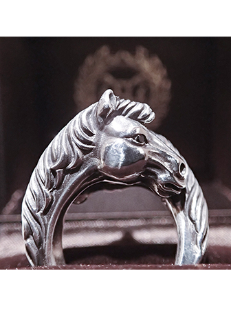 【SALE 30%OFF】PEANUTS COMPANY HORSE PINKY RING  Silver(ピーナッツカンパニー・ホースピンキーリング・シルバー)