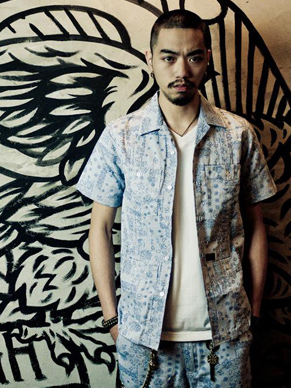 "Provider Rebel Without A Cause""Pattern Shirt"" BLUE"