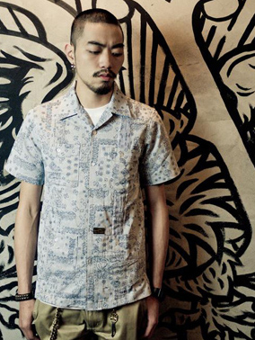 "Provider Rebel Without A Cause""Pattern Shirt"" NAVY"