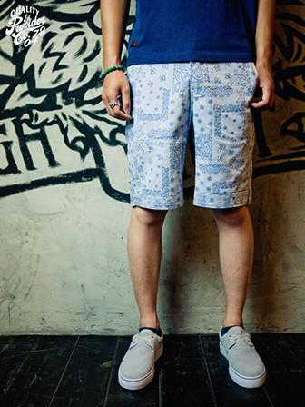 "【SALE 30%OFF】Provider  Rebel Without A Cause""Paisley Shorts""BLUE"