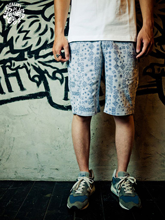 "【SALE 30%OFF】Provider  Rebel Without A Cause""Paisley Shorts""NAVY"