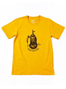 "Provider KEEP ROLLING ""Noose Tee""MUSTARD YELLOW"