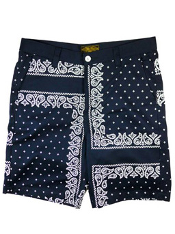 "【SALE 30%OFF】Provider KEEP ROLLING ""Bandana Shorts"" NAVY"