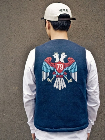 "【SALE 50%OFF】Provider KEEP ROLLING ""Chimayo Vest""NAVY"