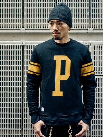 "【SALE 50%OFF】Provider KEEP ROLLING ""Type Crewneck""BLACK"