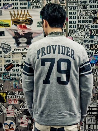 "【SALE 50%OFF】Provider KEEP ROLLING ""Type Crewneck""NAVY"
