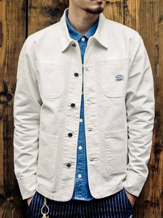 "【SALE 50%OFF】Provider KEEP ROLLING ""Canvas Coverall""WHITE"
