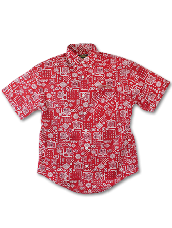 SEVENTY FOUR PAISLEY B.D. SHIRTS S/S RED(セブンティーフォー・ペイズリーB.Dシャツ・レッド)