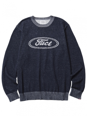 【SALE 20%OFF】FUCT SSDD F OVAL SWEATER 7003(ファクト・ファクトオーバルロゴセーター)